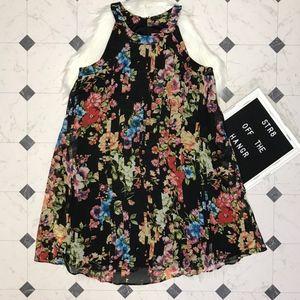 Betsey Johnson floral print tent dress size 4